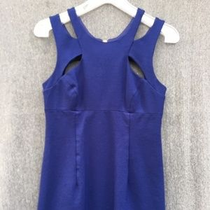 Betsey Johnson blue cut out dress